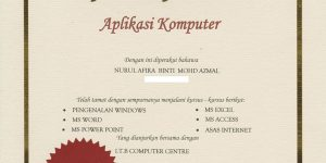 Contoh Sijil Aplikasi Komputer Dari UPM (1)